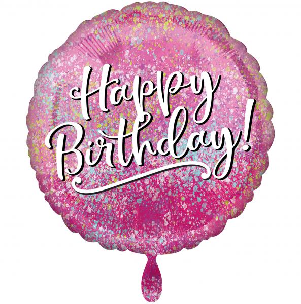 1 Ballon - Birthday Pink Fabulous