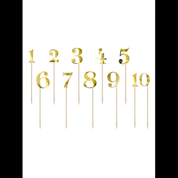 11 Cake Topper - Zahlenreihe - Gold