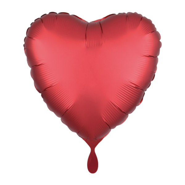 1 Ballon - Herz - Satin - Rot