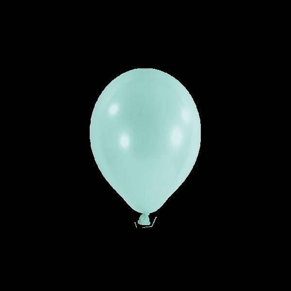100 Miniballons - Ø 12cm - Pastell - Mint