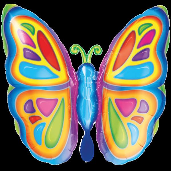 1 Ballon XXL - Bright Butterfly