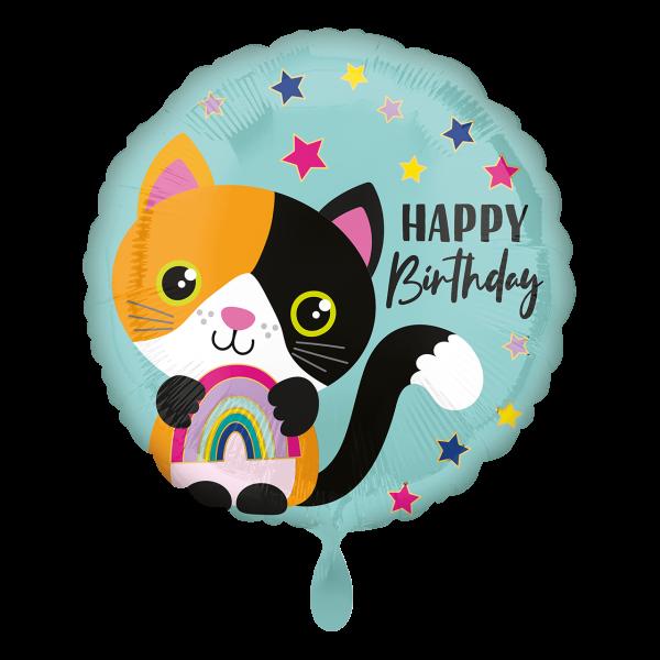 1 Ballon - Calico Cat Birthday