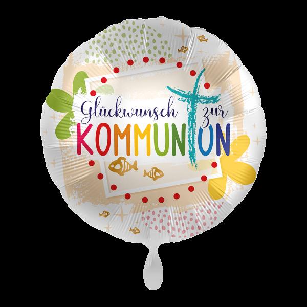 1 Ballon - Kommunion Glückwunsch