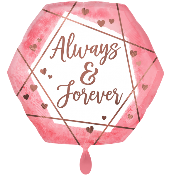 1 Ballon XXL - Always & Forever Watercolor