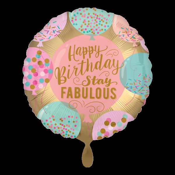 1 Ballon - Happy Birthday Stay Fabulous