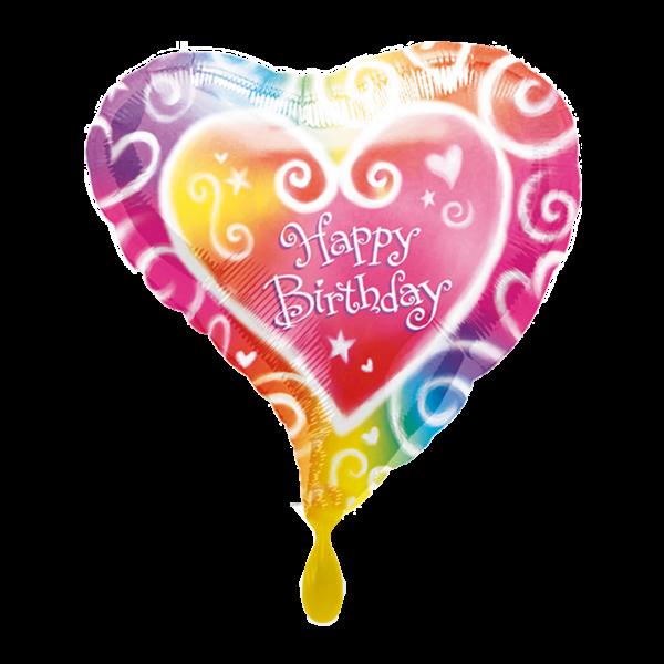 1 Ballon - Watercolor Birthday