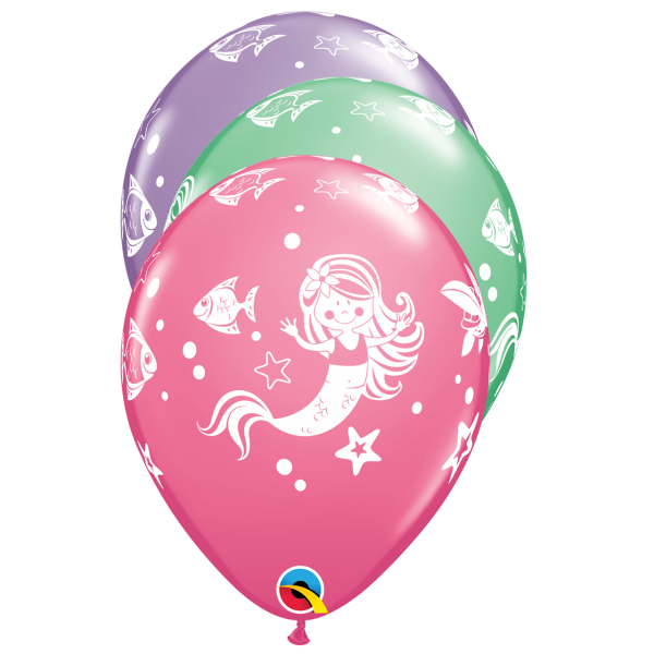 6 Motivballons - Ø 27cm - Merry Mermaid & Friends