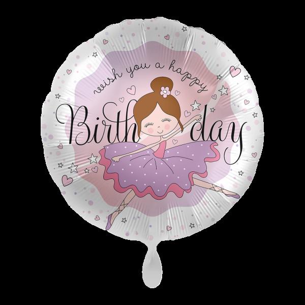 1 Ballon - Dancing Ballerina Birthday