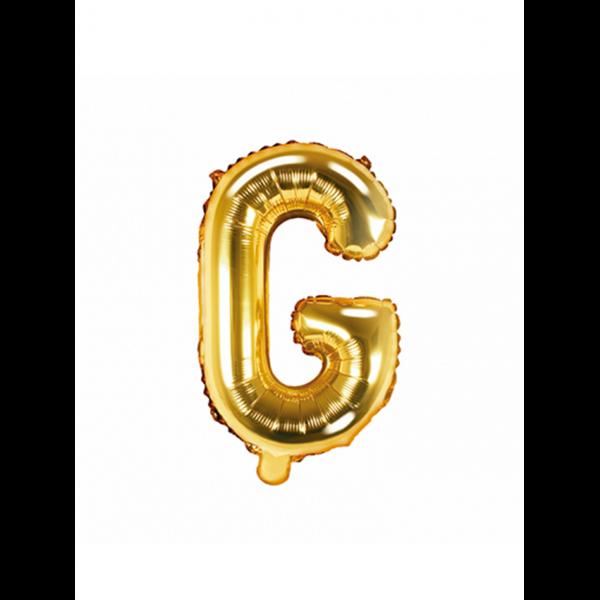 1 Ballon XS - Buchstabe G - Gold