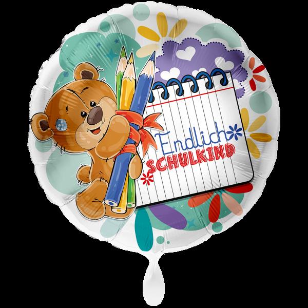 1 Ballon XXL - Bär Endlich Schulkind