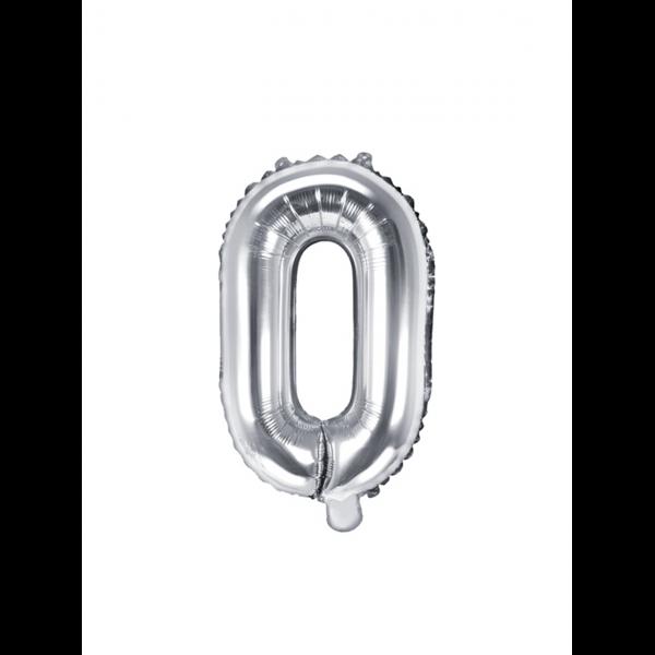 1 Ballon XS - Buchstabe O - Silber