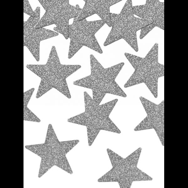 8 Glittersterne - Silber