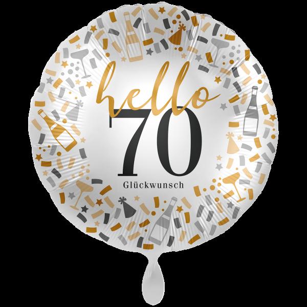 1 Ballon XXL - Hello 70