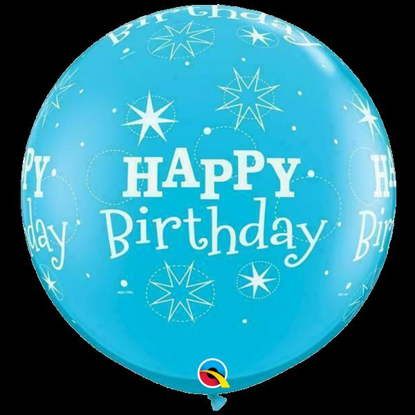 2 Riesenballons - Ø 90cm - Birthday Sparkle