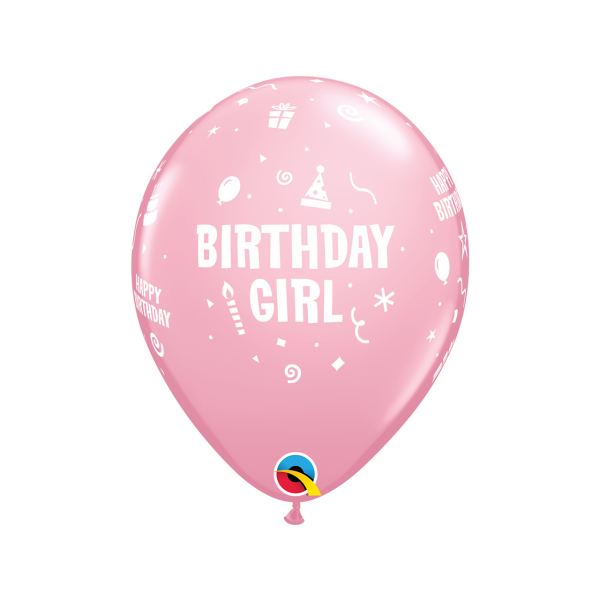6 Motivballons - Ø 27cm - Birthday Girl
