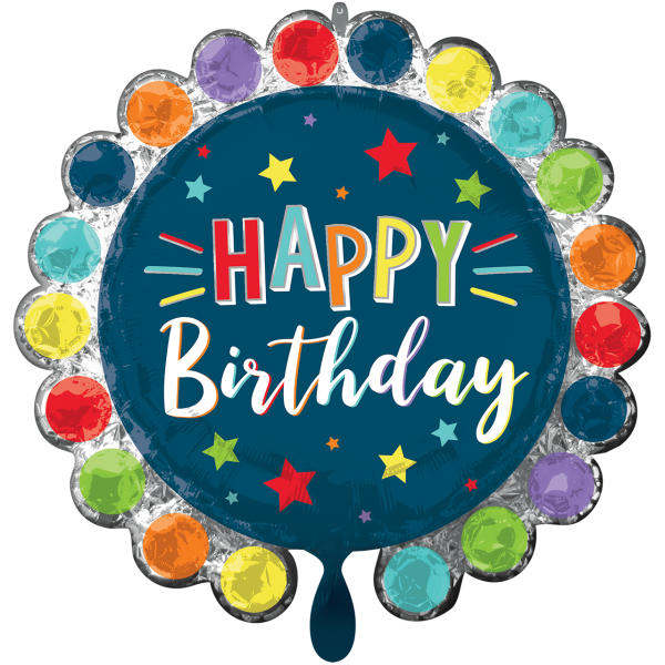 1 Ballon XXL - Dot Circle Birthday