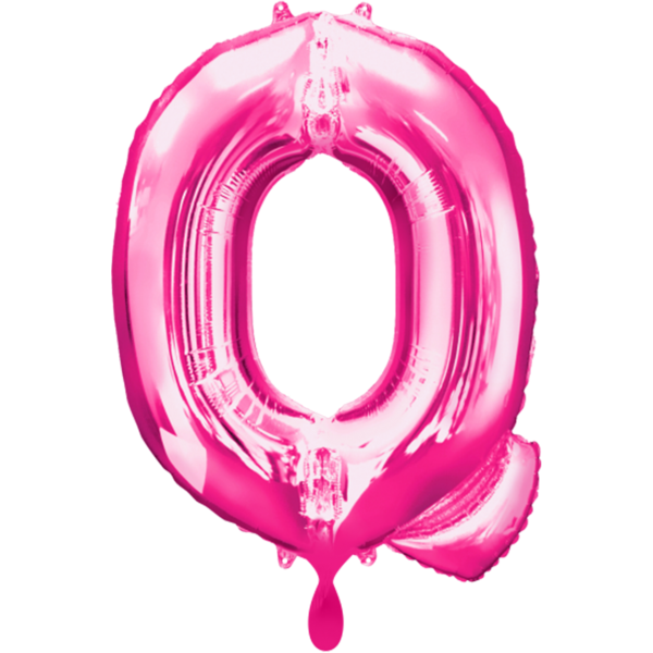1 Ballon - Buchstabe Q - Pink - Ø 86cm