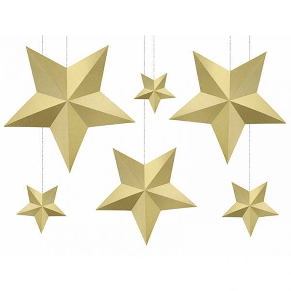 6 Decorstars - Gold