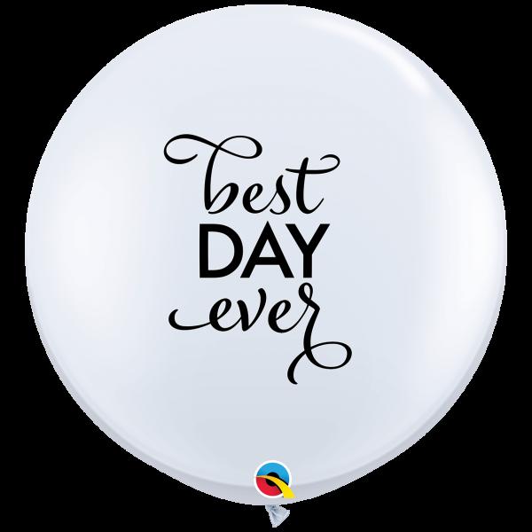 2 Riesenballons - Ø 90cm - Simply Best Day Ever