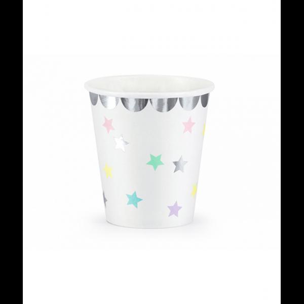6 Pappbecher Trend - 180ml - Unicorn Stars