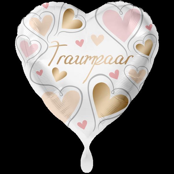 1 Ballon XXL - Traumpaar Herzen