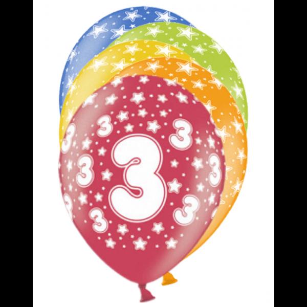 6 Motivballons - Ø 30cm - 3 Celebration