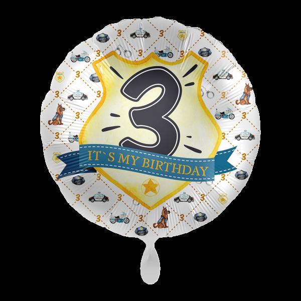 1 Ballon - Police Academy - Drei