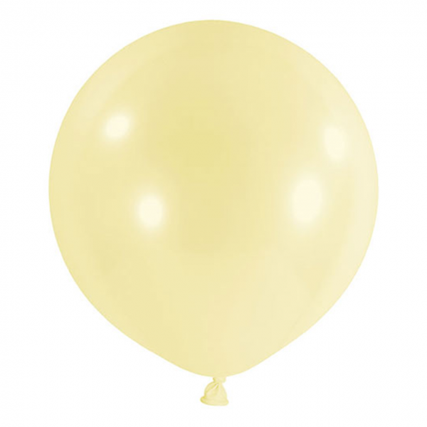 1 Riesenballon - Ø 60cm - Pastell - Gelb
