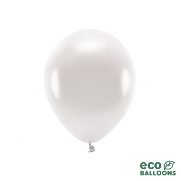 100 ECO-Luftballons - Ø 26cm - Metallic - Pearl