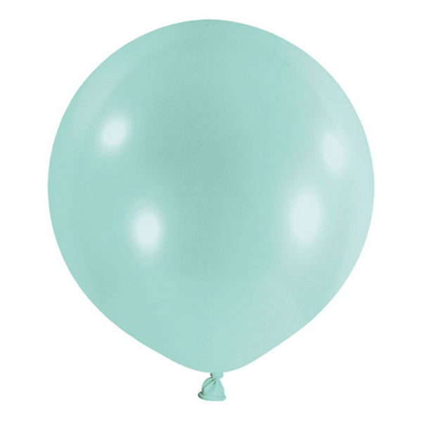 1 Riesenballon - Ø 60cm - Pastell - Mint