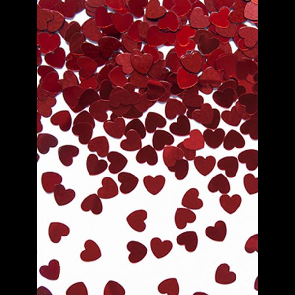 30g Metallickonfetti - Rote Herzen - 5mm