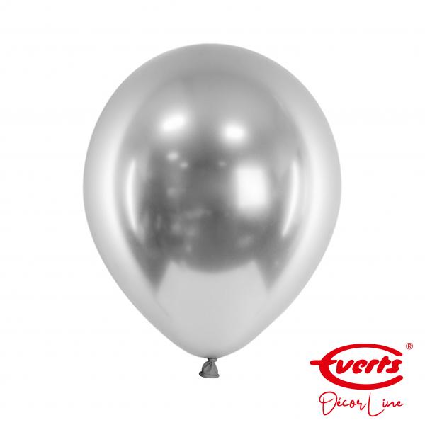 50 Luftballons - DECOR - Ø 28cm - Satin Luxe - Platinum