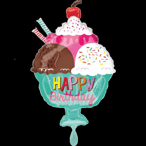 1 Ballon - Ice Cream Sundae HBD