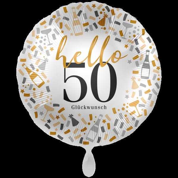 1 Ballon XXL - Hello 50