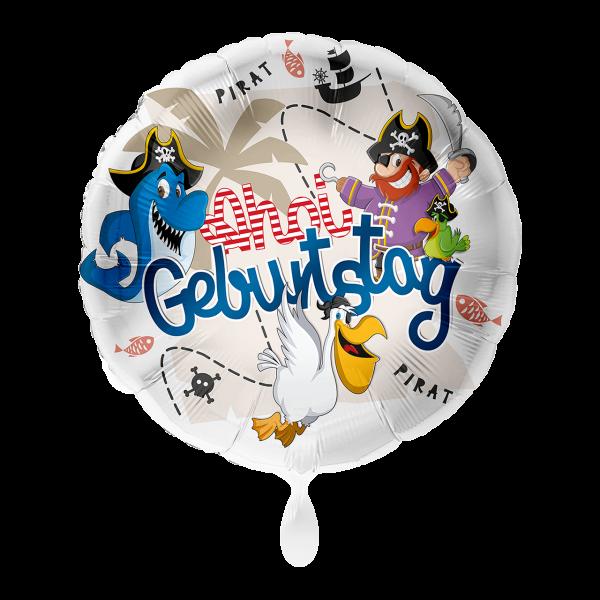 1 Ballon - Geburtstag Pirat Ahoi