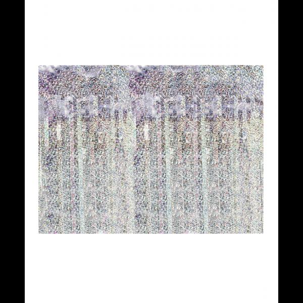1 Glittervorhang - 2,5m - Holographic
