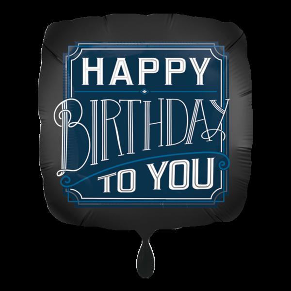 1 Ballon - Happy Birthday Man
