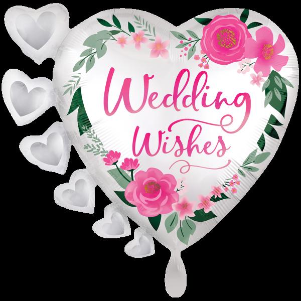 1 Ballon XXL - Satin Wedding Wishes