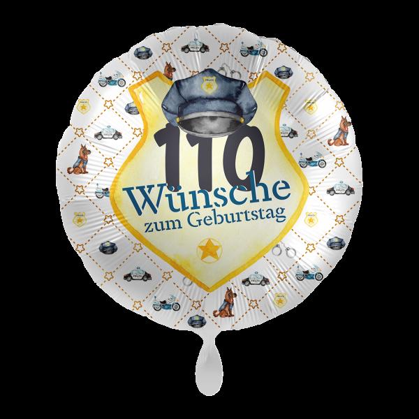 1 Ballon - Police Academy - 110 Wünsche