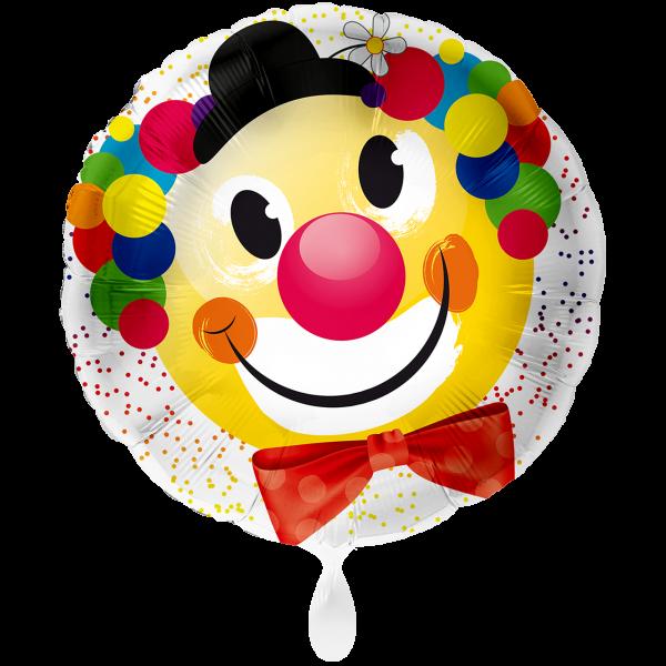1 Ballon XXL - Fröhlicher Clown