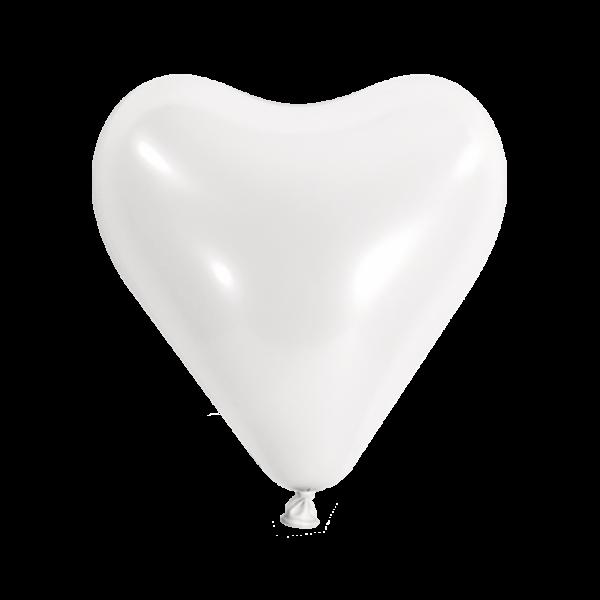 500 Herzballons - Ø 30cm - Weiss