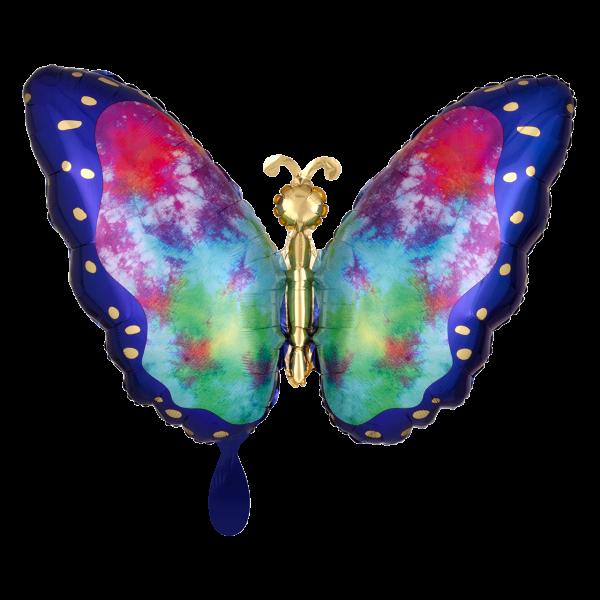1 Ballon - Tie-Dye Butterfly