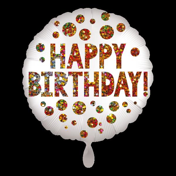 1 Ballon - Satin infused Birthday Sequins