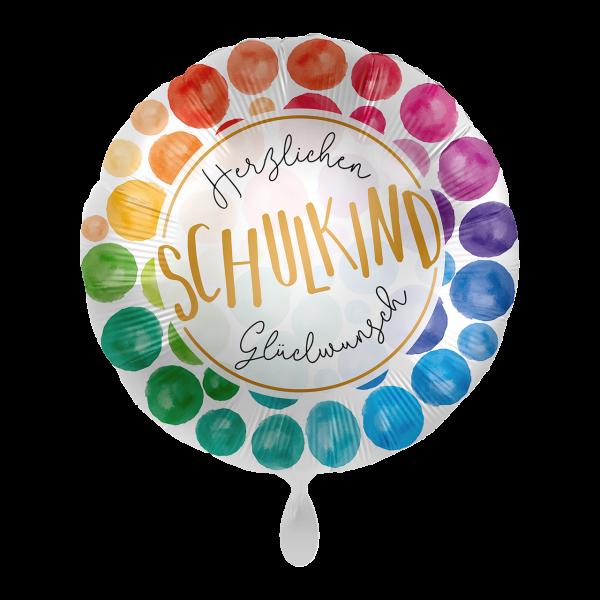 1 Ballon - Schulkind Glückwunsch
