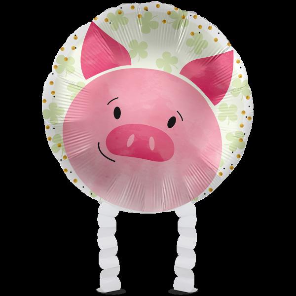 1 Ballonwalker - Glücksschwein