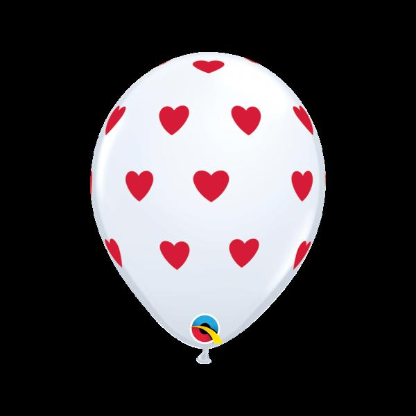 6 Motivballons - Ø 27cm - Big Hearts