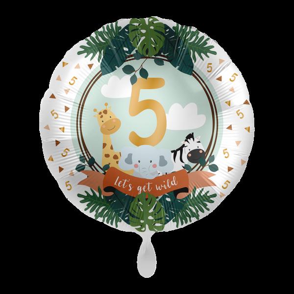 1 Ballon - Jungle Friends - Fünf