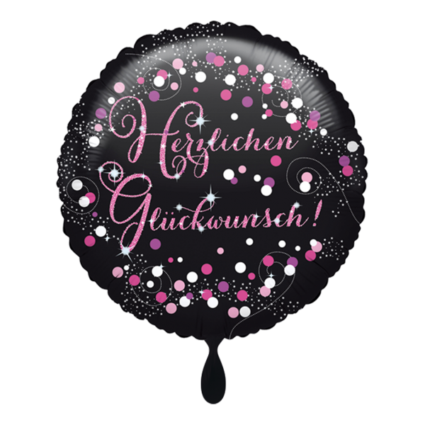 1 Ballon - Herzlichen Glückwunsch - Pink