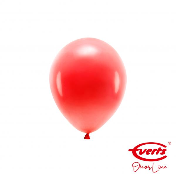 100 Miniballons - DECOR - Ø 13cm - Pearl & Metallic - Apple Red
