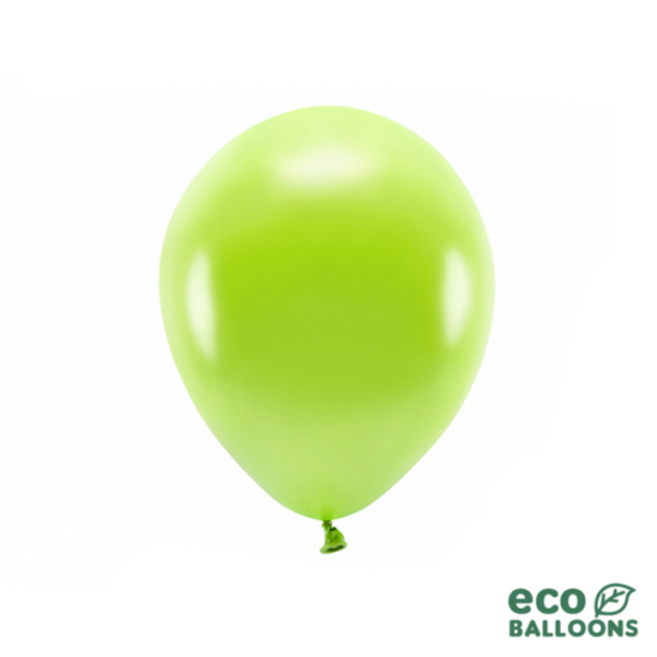 10 ECO-Luftballons - Ø 26cm - Metallic - Green Apple